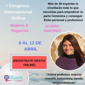 Cartel Javiera Congreso Mujeres & Negocios